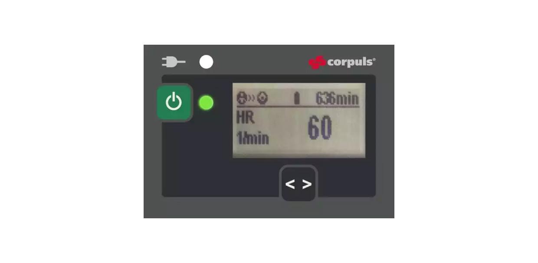 corpuls3T Patientenbox Display